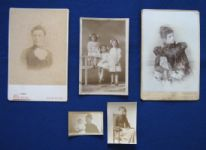 zz Small collection of five late Victorian or early 20th century portrait photographs (Newquay, Cornwall) (SOLD)